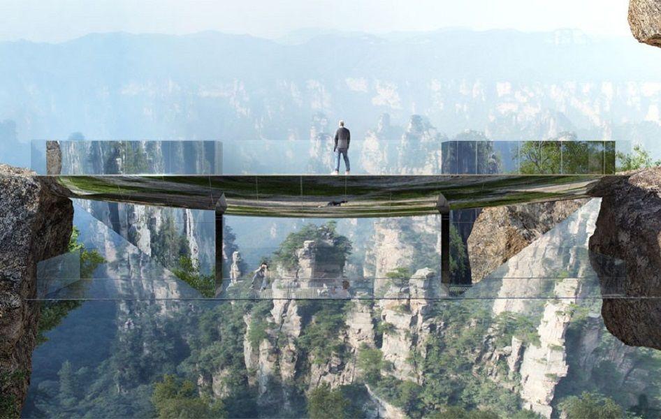 Дагестан, прозрачный мост в горах нижнем новгородежилой